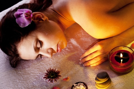Young woman getting spa procedures. Stock Photo - 9248511