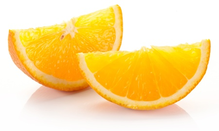 projected: Back projected citrus slices.