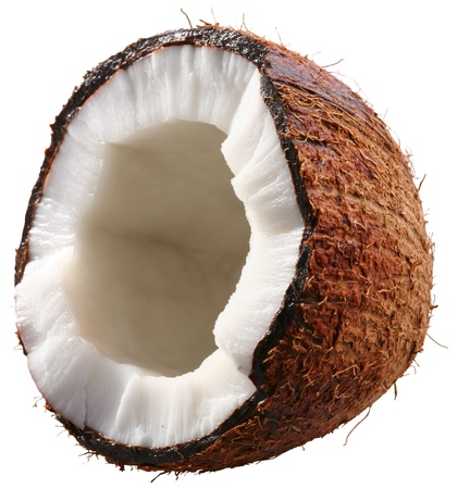 coco: Half of the coconut is isolated on a white background. File contains a clipping paths.