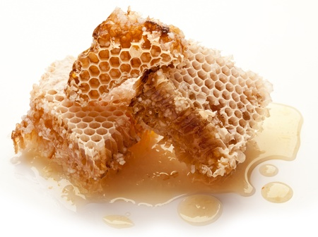Close up view of honeycombs. photo