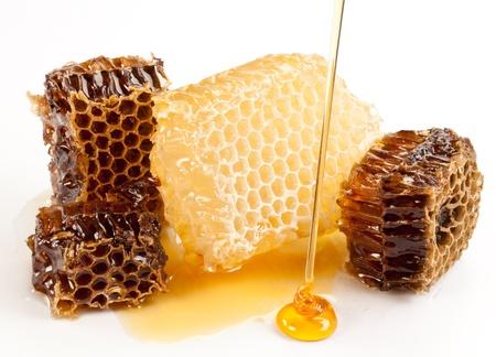 honeycomb: Cerrar vista de panales. Foto de archivo