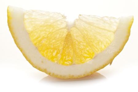 sappy: Lemon slice on a white background.