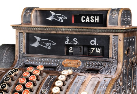 Old-style cash register. photo