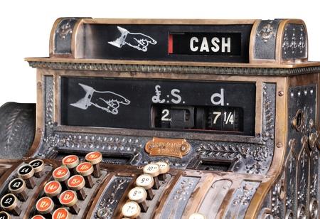 cash register: Old-style cash register.