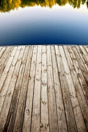 wooden dock: Close up shot of old wooden pier.