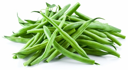 Green beans isolated on a white background. photo