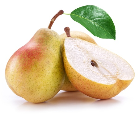 Pears on a white background photo