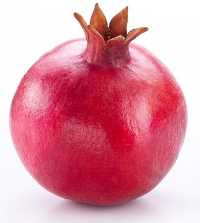 a pomegranate: Pomegranate isolated on a white background.