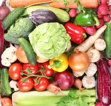 Plenty of vegetables occupy the entire frame  Stock Photo - 12892842