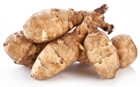 jerusalem artichoke: Jerusalem artichoke on a white background