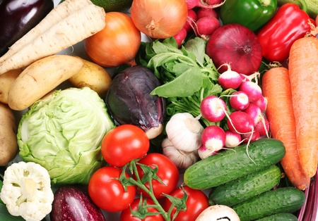 entire: Plenty of vegetables occupy the entire frame