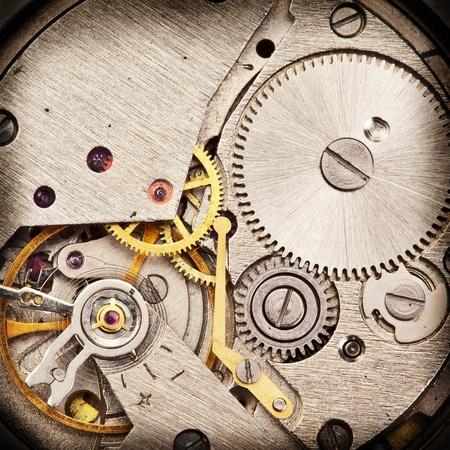 old macro: Un reloj mec�nico Cierre de tiro Foto de archivo
