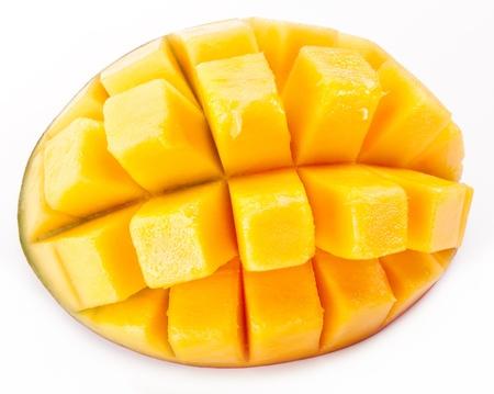 Slice of mango on a white background  photo