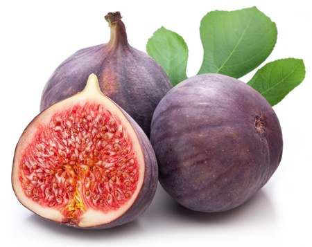 fruta tropical: Las frutas higos en el fondo blanco
