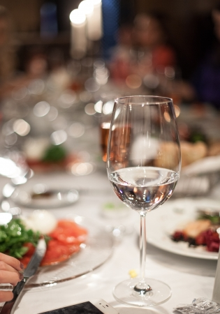 business dinner: Abstract image of a celebratory table
