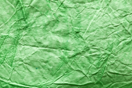 burlap background: Texture image crumpled green paper