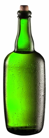Bottle of beer isolated on a white background. Clipping path. photo