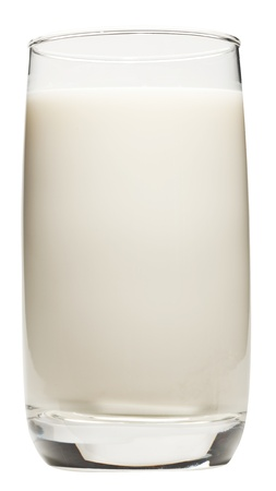 kefir: Milk glass isolated on a white background. Clipping path.