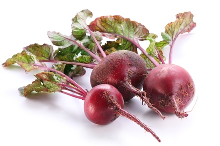 rote: Beet roots isolated on white background. Stock Photo