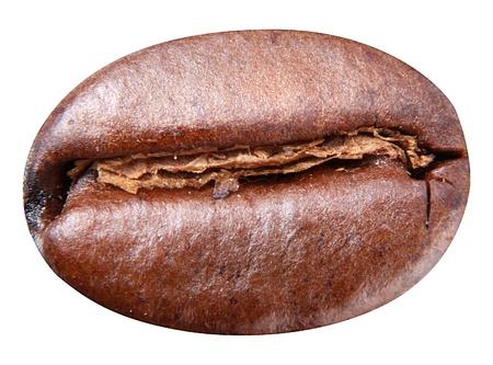 Kaffeebohne auf weißem Hintergrund. Bean müssen Beschneidungspfad.