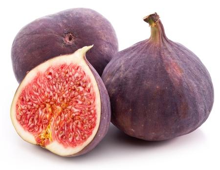 Fruits figs on white background  Stock Photo