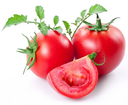 Tomatoes on a white background Standard-Bild