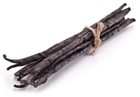 vanilla: Vanilla sticks on a white background.