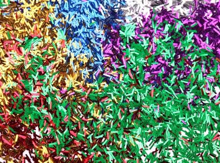 ticker: Colorful ticker tape. Stock Photo
