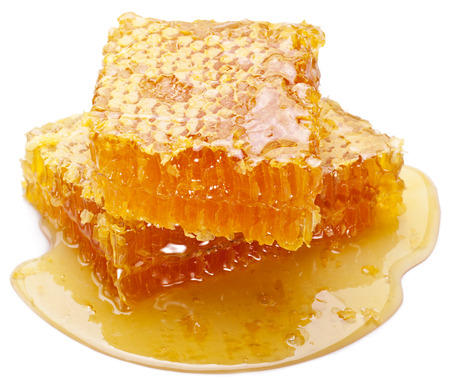 Honeycomb on a white background. Banco de Imagens