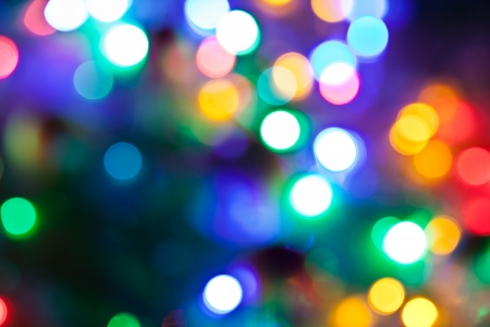 christmas fairy: Blurred fairy lights background. Stock Photo