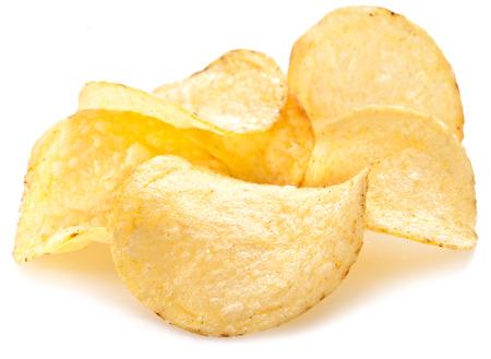potato chips: Potato chips on a white background.