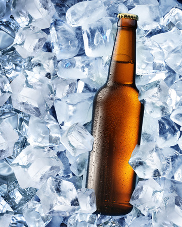 taphouse: Bottle of beer in ice cubes.