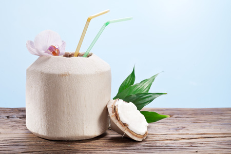 beach bar: Coconut water in the nut.