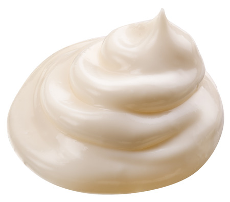 handful: Handful of mayonnaise.   Stock Photo