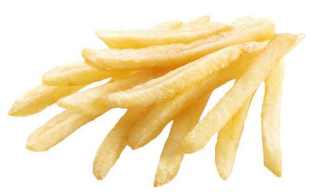 Potato - french fries on a white background.