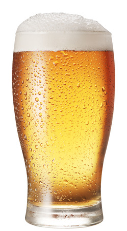 beer mug: Glass of beer isolated on a white background. Clipping paths.