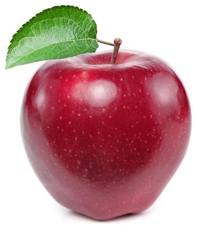 Roter Apfel auf einem weißen Hintergrund. Standard-Bild - 37251379