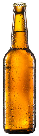 clipping: Bottle of beer on white background. File contains clipping paths.