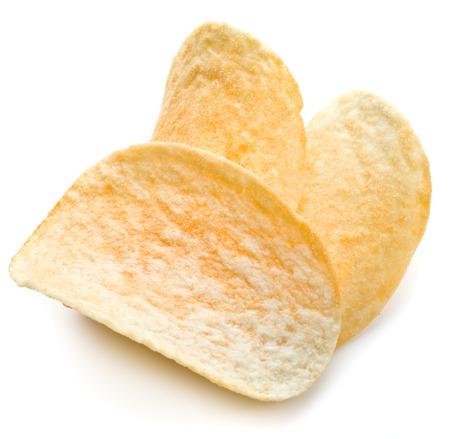Potato chips isolated white