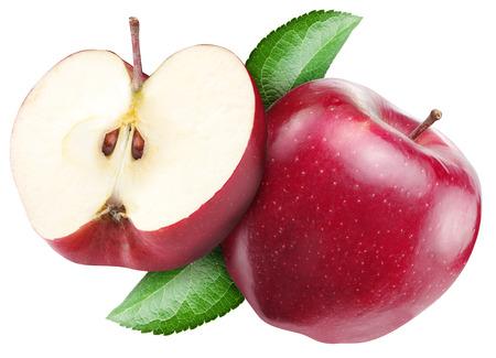 manzana roja: Manzana roja sobre un fondo blanco.