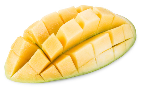 clipping: Ripe mango fruit. File contains clipping paths. Stock Photo