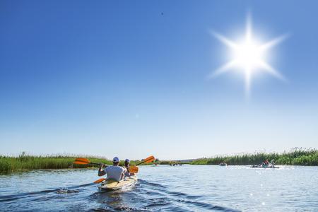 canoe paddle: Rafting on the Vorskla River.
