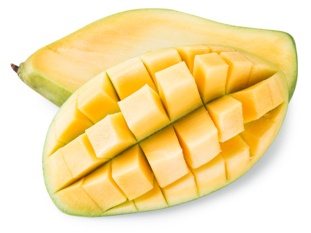 contains: Ripe mango fruit. File contains clipping paths. Stock Photo