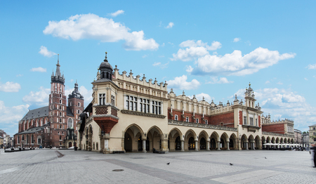 Saint Mary Basilica and Main Square in Krakow.