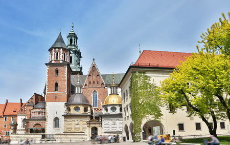 wawel: Wawel Cathedral. Old Town in Krakow.  05.05.2015. Poland. Editorial