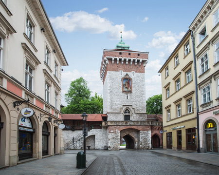history building: Streets of The Old Town in Krakow. Poland. 6 May 2015. Editorial