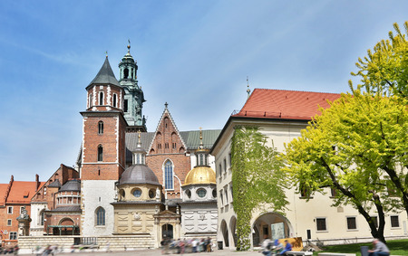 Wawel Cathedral. Old Town in Krakow.  05.05.2015. Poland. Stock Photo