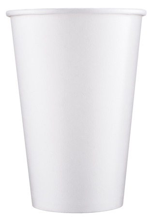 clipping: White plastic cup. File contains clipping paths.