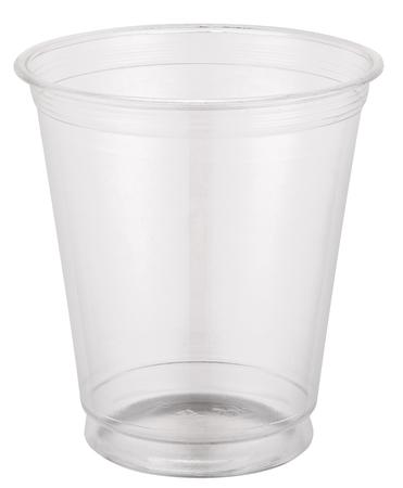 空のプラスチック製のカップ。 写真素材
