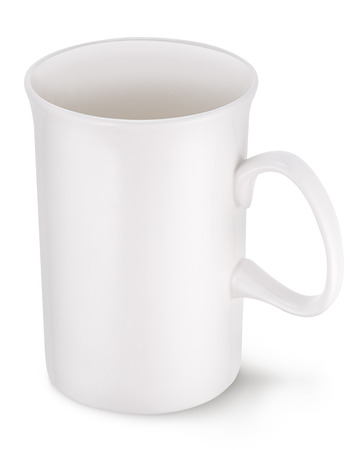 clipping: Empty white cup. File contains clipping paths.